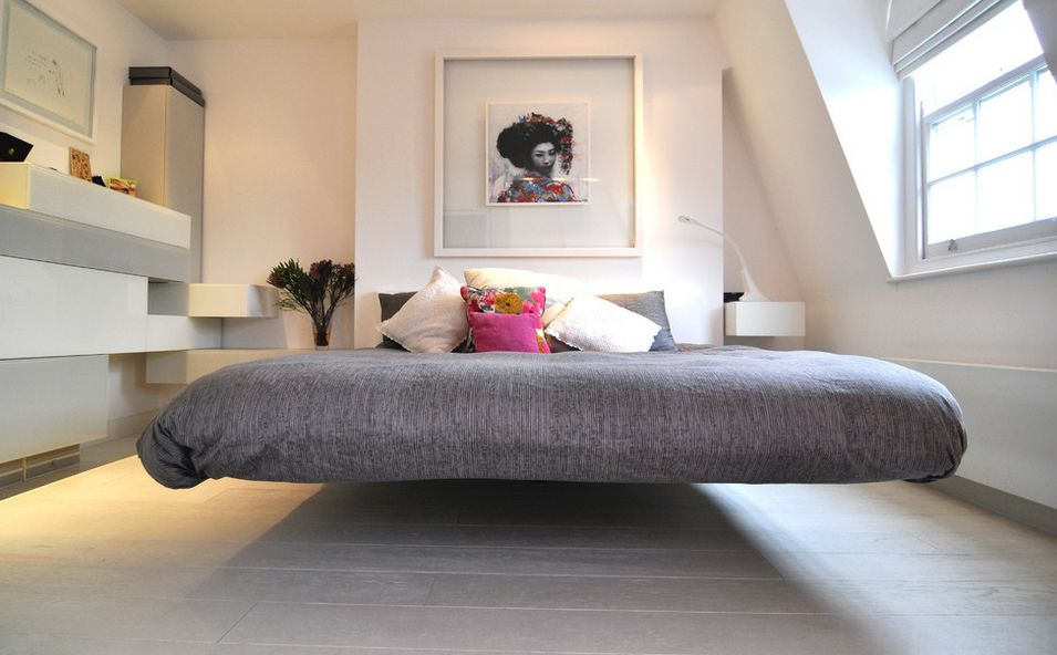 Floating beds elevate your bedroom design to the next level for Asian inspired decor