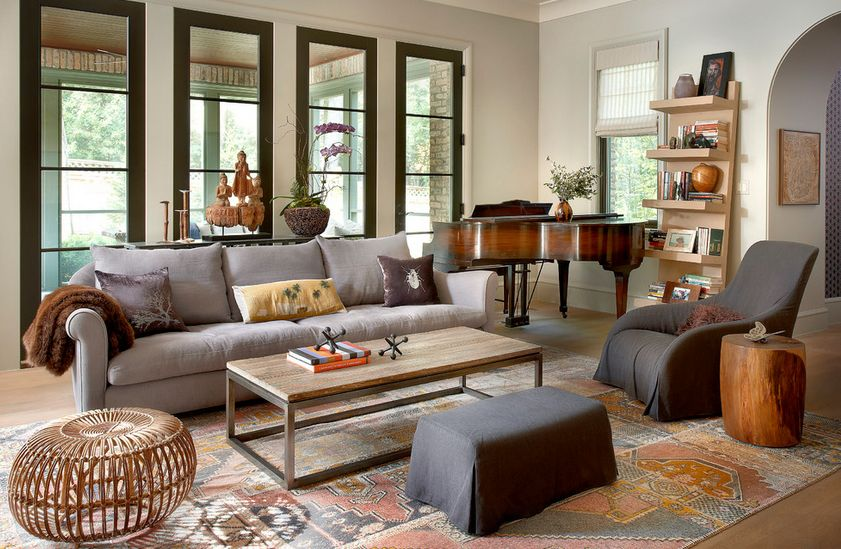 Beautiful Mixed Neutral Color Living Room