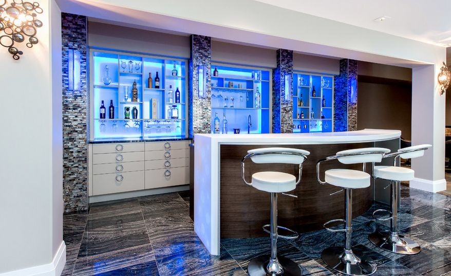 Modern bar white stools