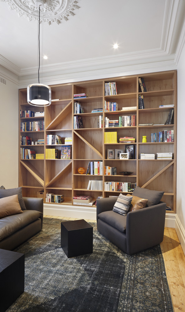 Modern Home Library Hawthorn House AM Architecture