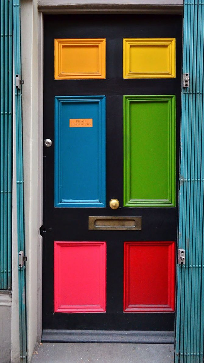 Multicolored front door colors