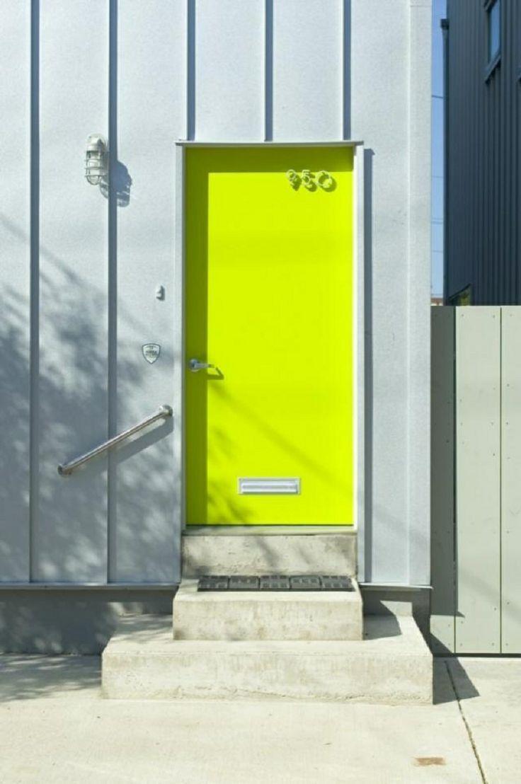 Neon paint front door