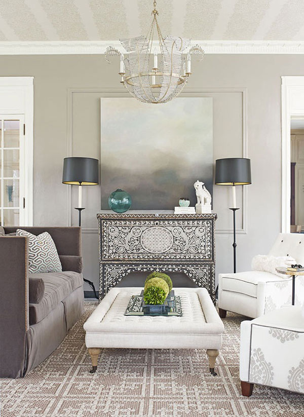 Neutral tones can help you to decorate easy