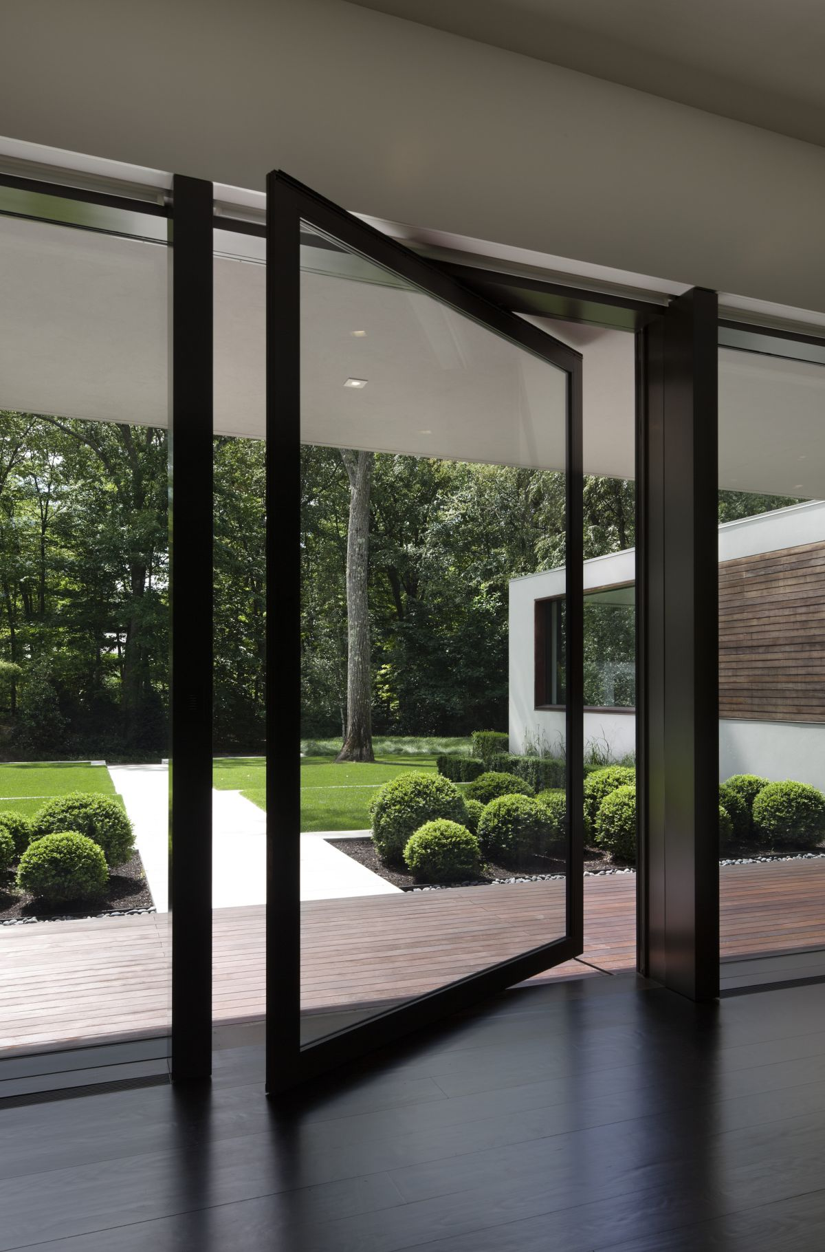 Exceptional New Canaan Residence Pivot Front Entry Door