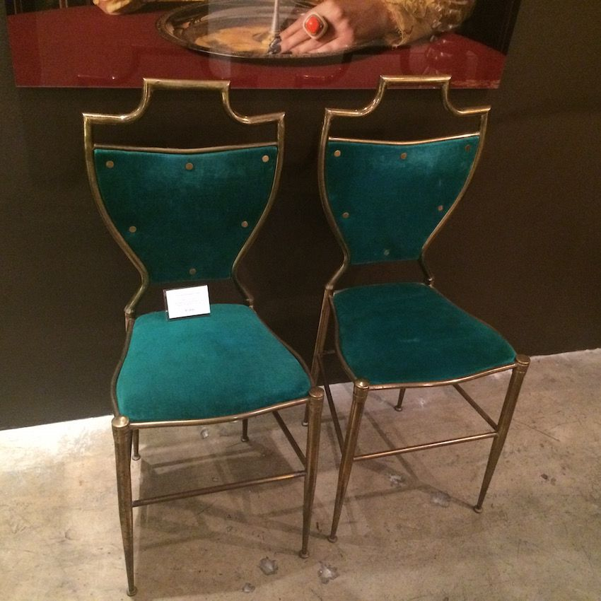 Niba Home Italian Brass chairs