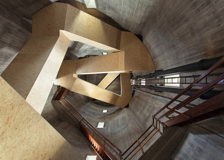 Old Water Tower Staircase