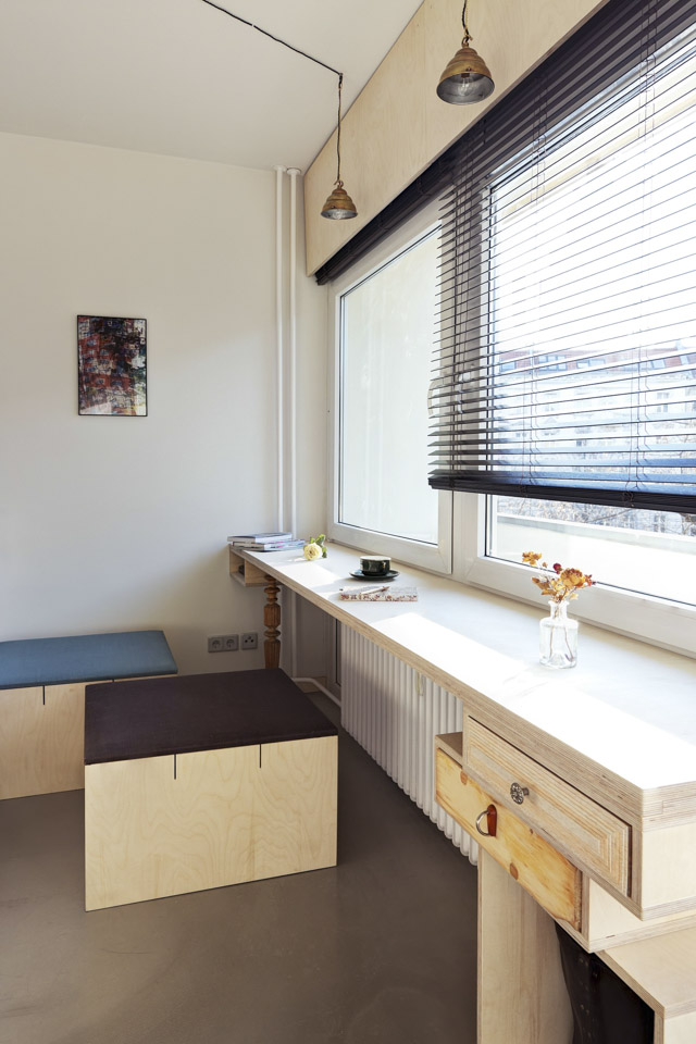 Plus One Small Apartment in Berlin Window Table