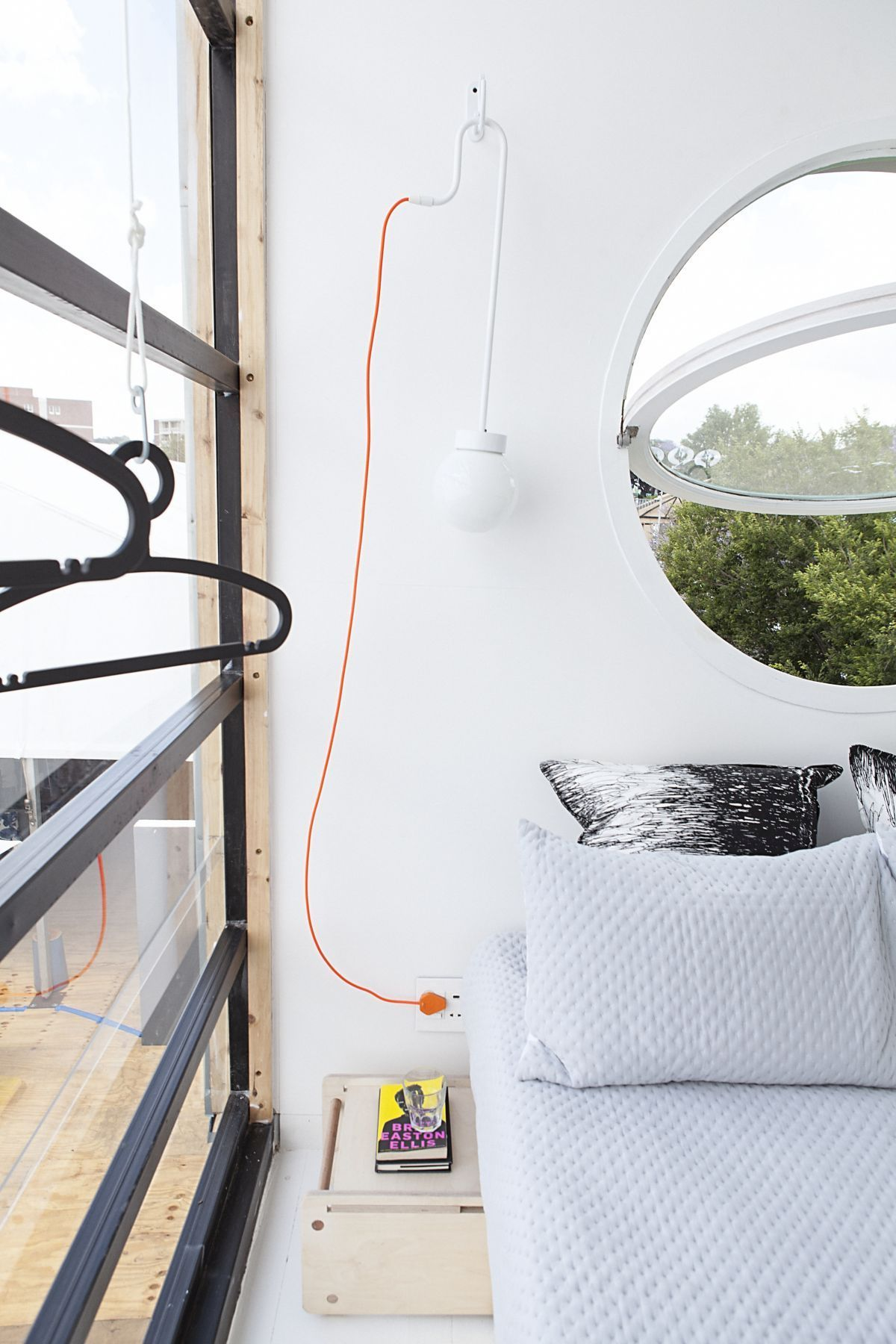 Pod iDLADLA flexible lighting in bedroom photographed by Brett Rubin
