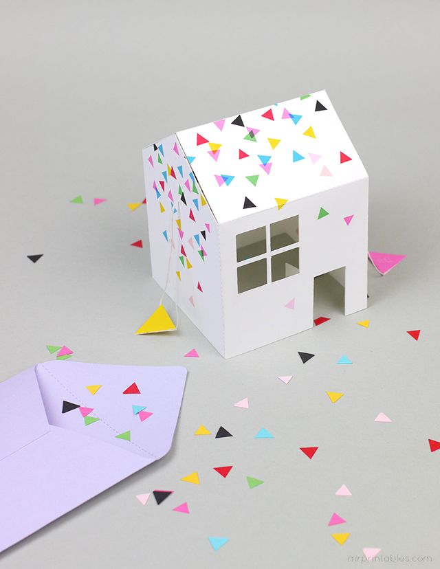 Printable pop up house party invitation