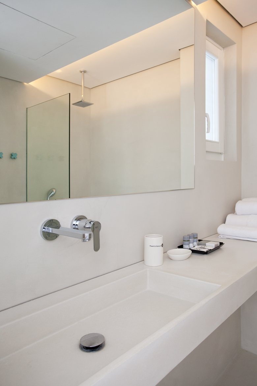 Relux Ios Island Hotel large bathroom mirror