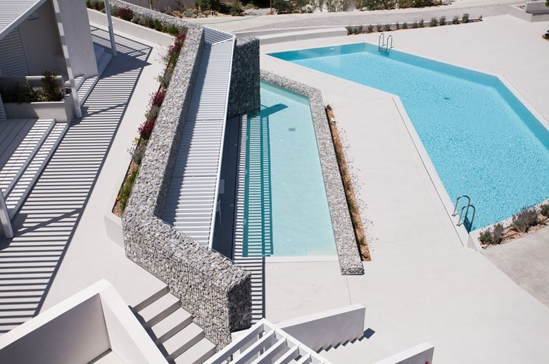 Relux Ios Island Hotel outdoor pool from above