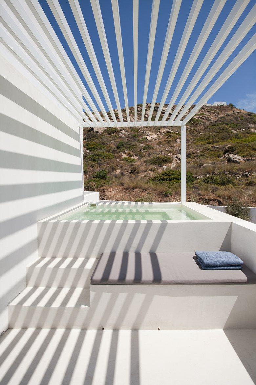 Relux Ios Island Hotel outdoor tub
