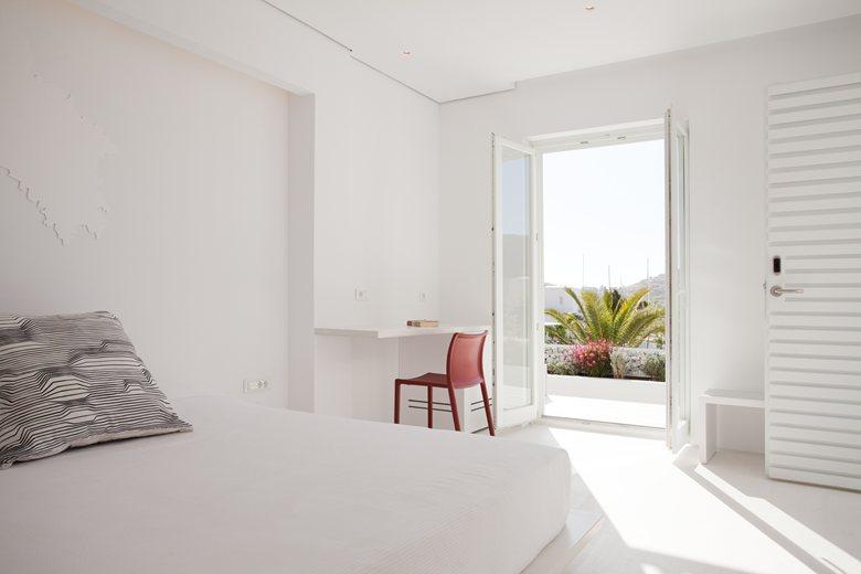 Relux Ios Island Hotel white room interior