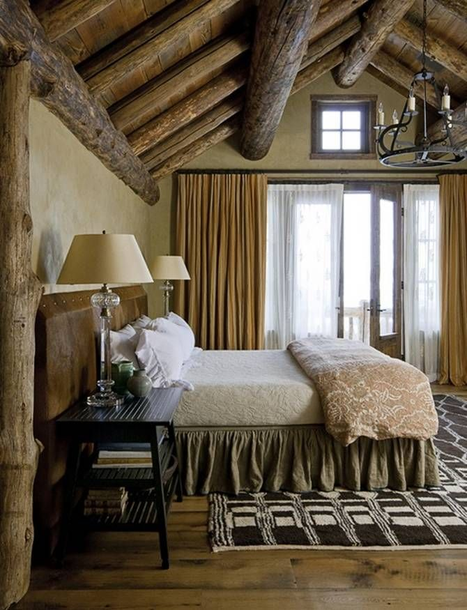 rustic bedroom mix print