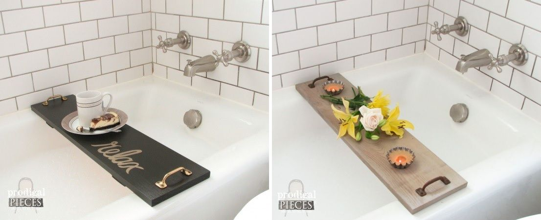 Simple and modern bathtub tray diy