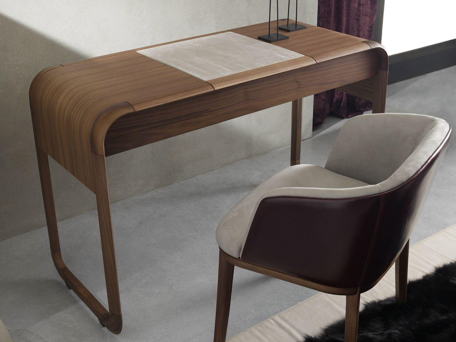 Sleek wooden dressing table