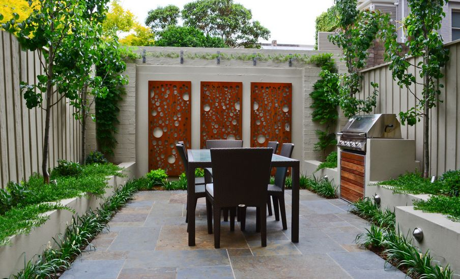 How to beautify your house outdoor wall d cor ideas for Outside barbecue area design
