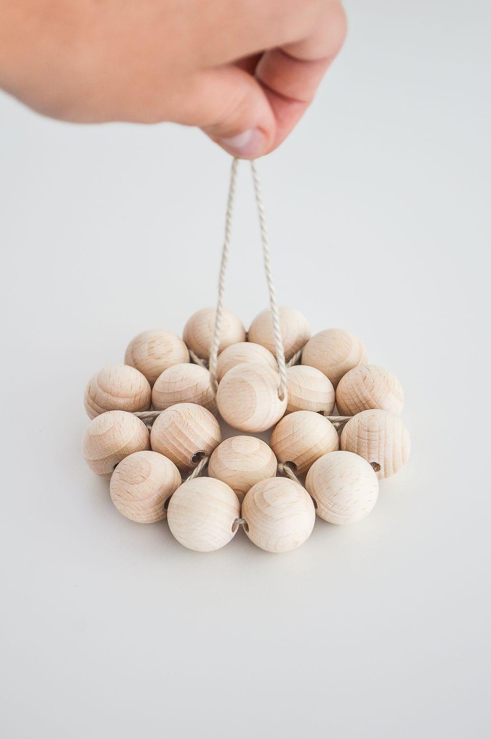 Start stringing the beads center