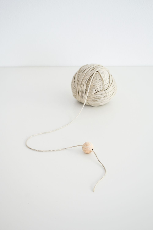 Start stringing the beads