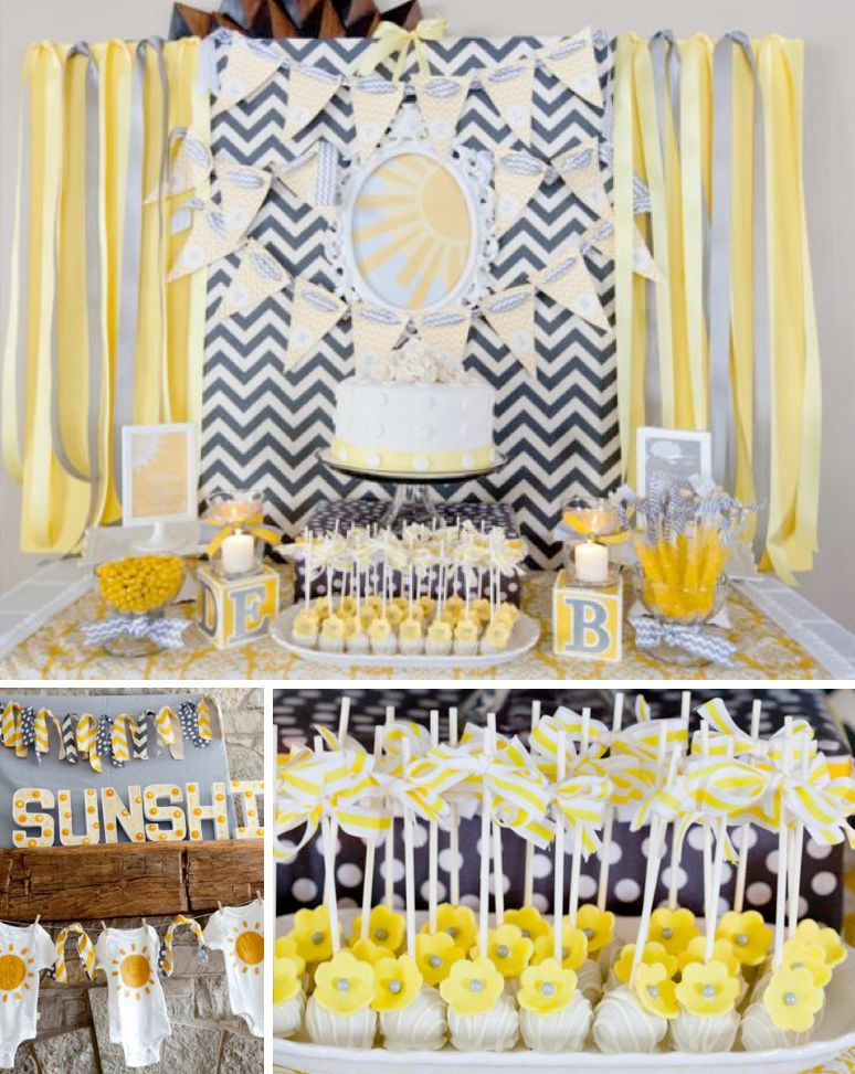 Sonnenschein themed Babyparty-Party