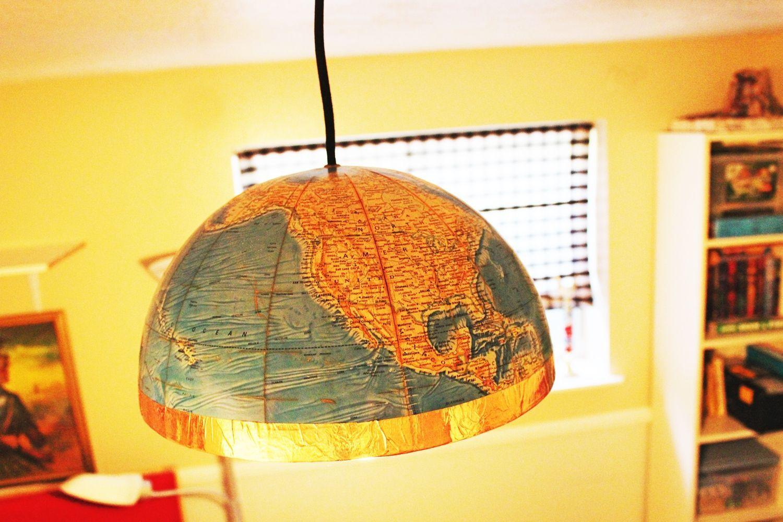 Teenage room Globe pendant light