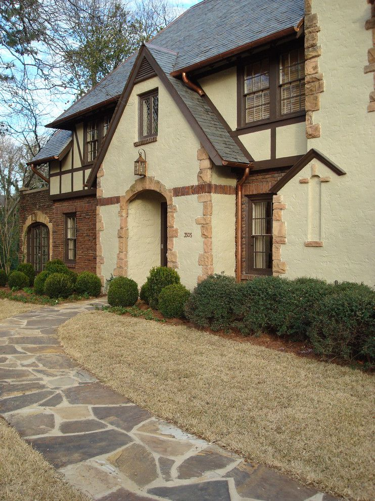 Tudor style with Stone Walkways