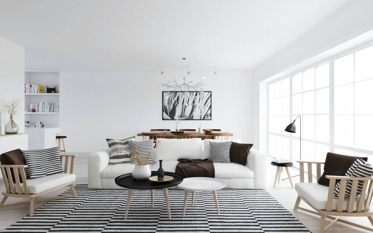 Unique striped scandinavian decor