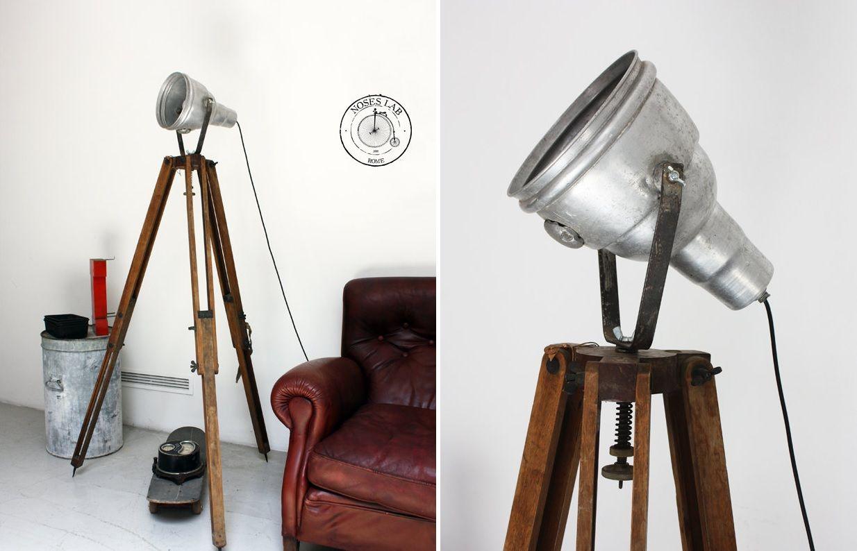 Vitage tripod floor lamp