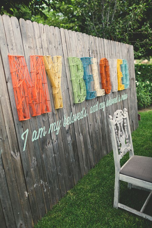 Fence Décor Ideas. Wedding Outdoor Wall String