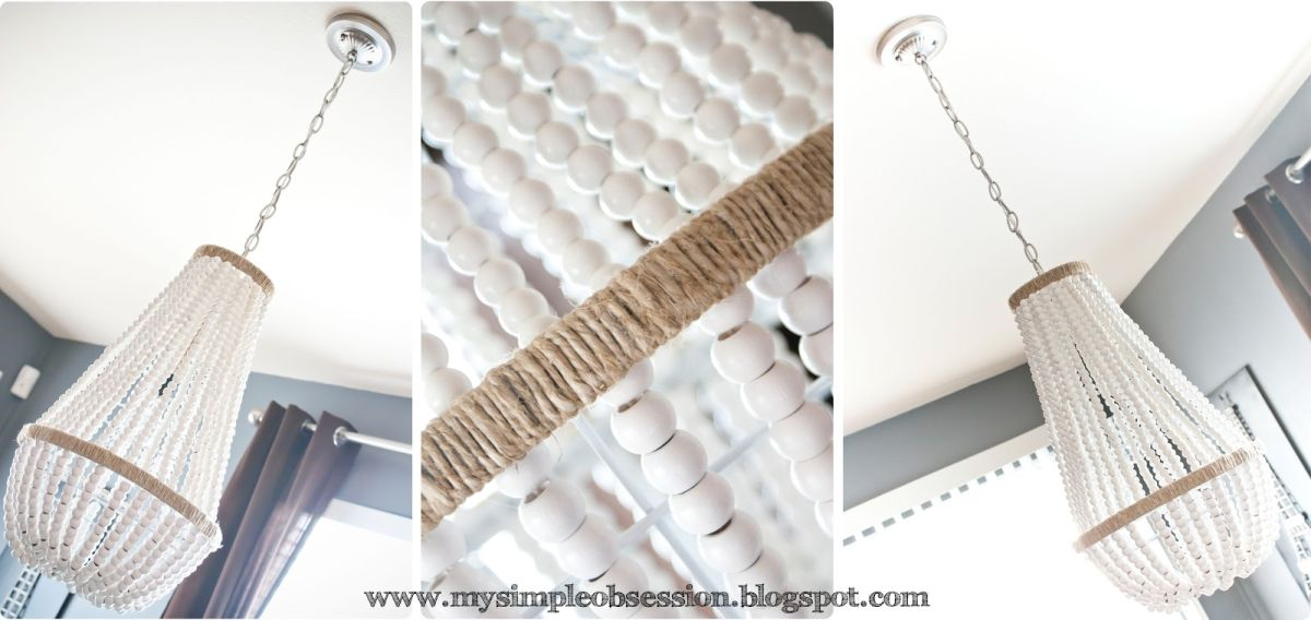 White Beaded Chandelier Diy