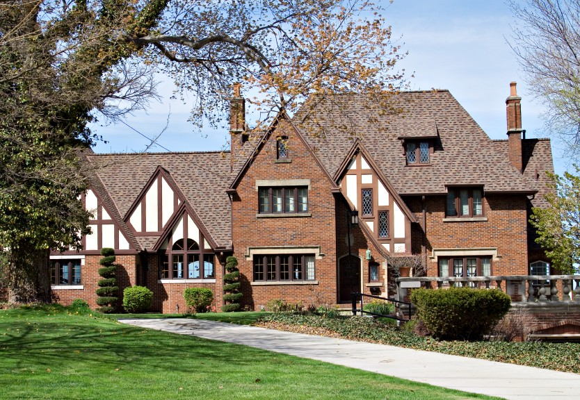 20 tudor style homes to swoon over for Different mansion styles
