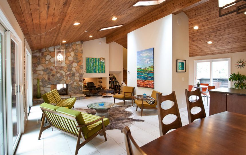 Wood Ceiling For A Ranch Style