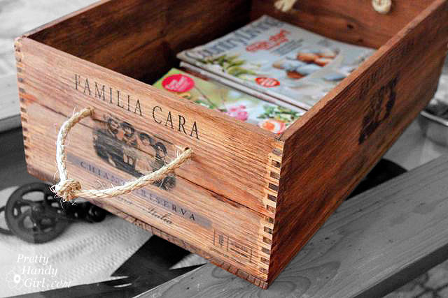 Wood crate magazine storage