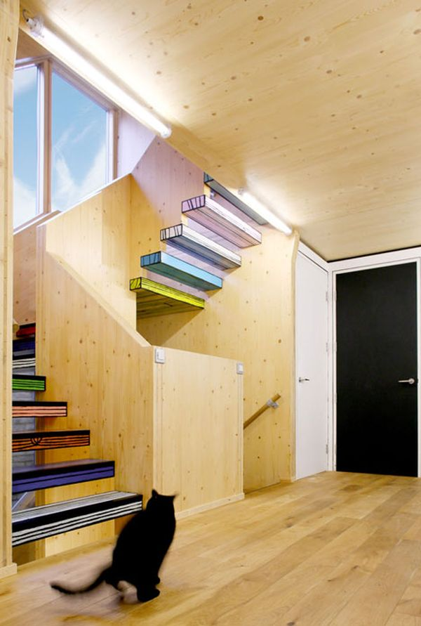 Woodblock House by dRMM Staircase