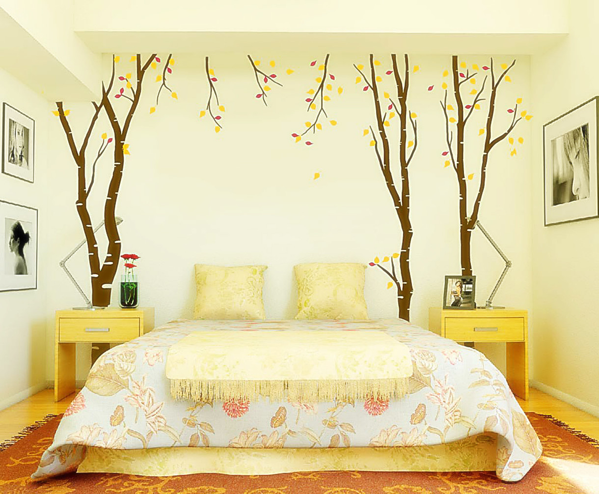 Yellow Wall Stickers For Bedroom