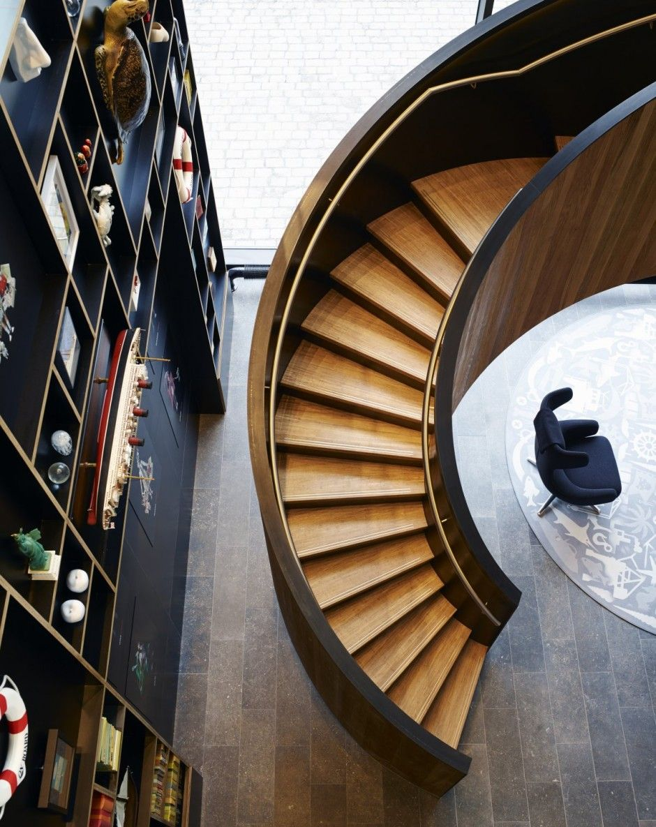 citizenM Rotterdam by Concrete Architectural Associates Wood Staircase