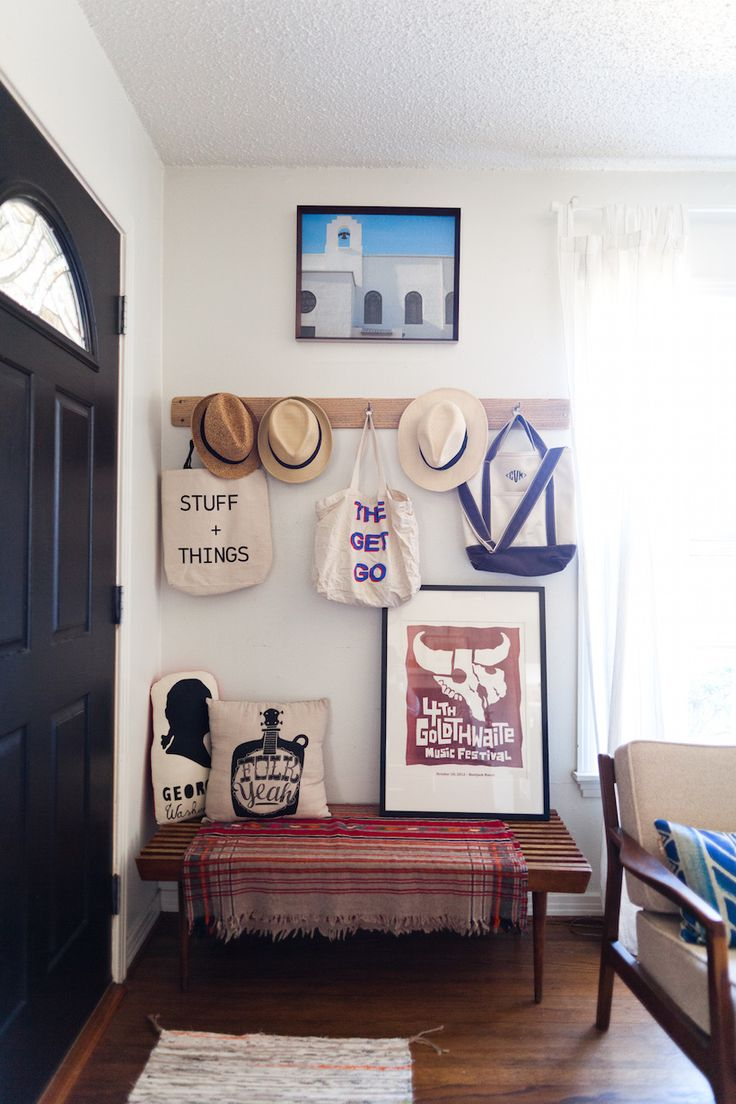 living room entryway. 2  Wall Hooks 10 Tips for Creating an Entryway in less Home