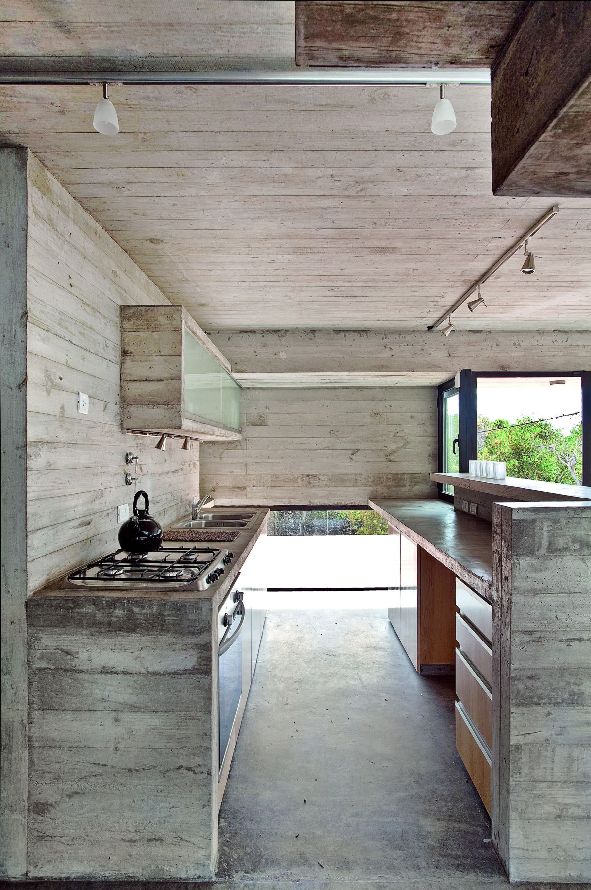 full concrete kitchen design