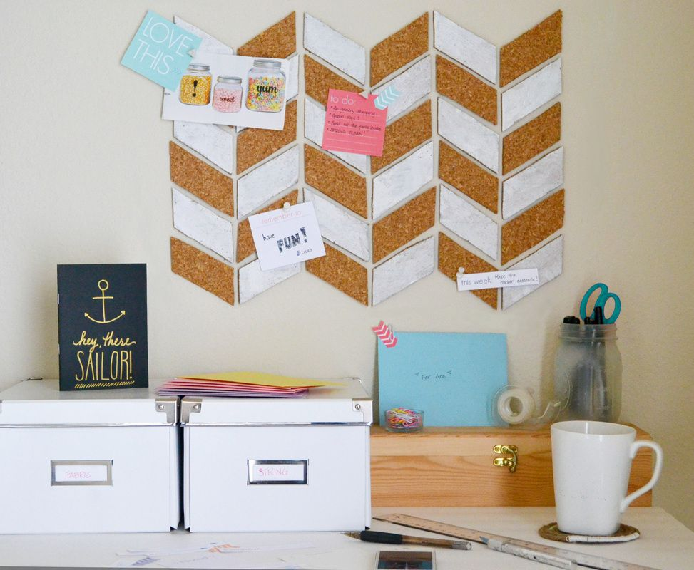 herringbone-bulletin-board