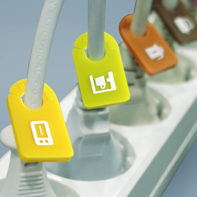 itchen Cable Organizer Stecker Tags