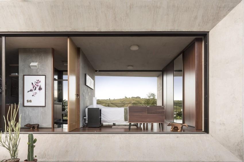 minimal house in brazil bedroom