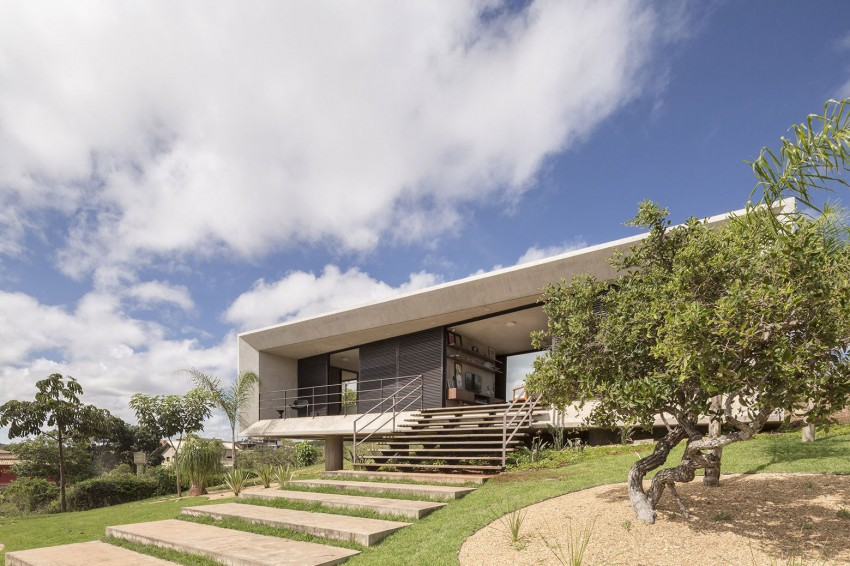 Minimal House In Brazil Front Facade View In Gallery