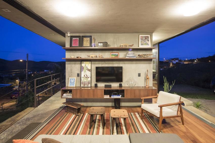 minimal house in brazil living room colors