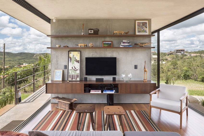 minimal house in brazil living room decor