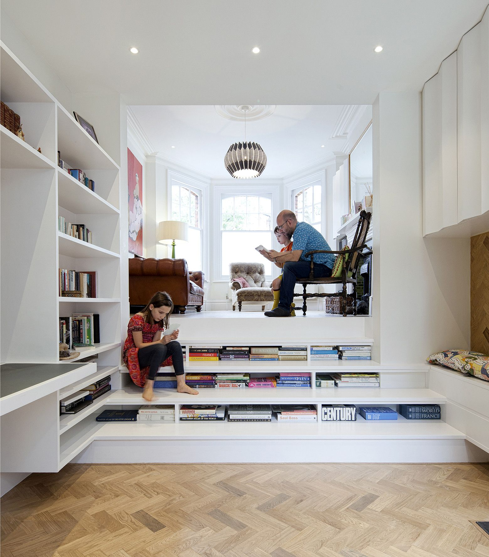 Private Nook Stairs Library