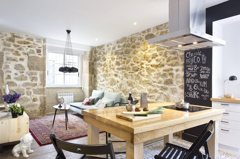 small apartment in Spain stone walls