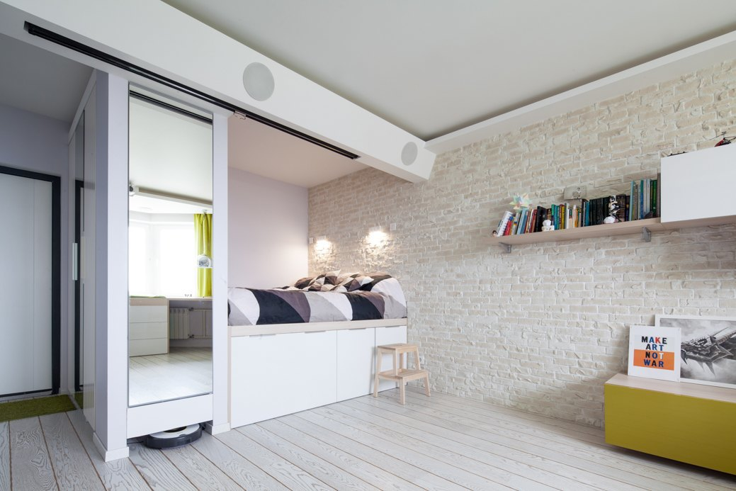 small apartment with fresh design sleeping area