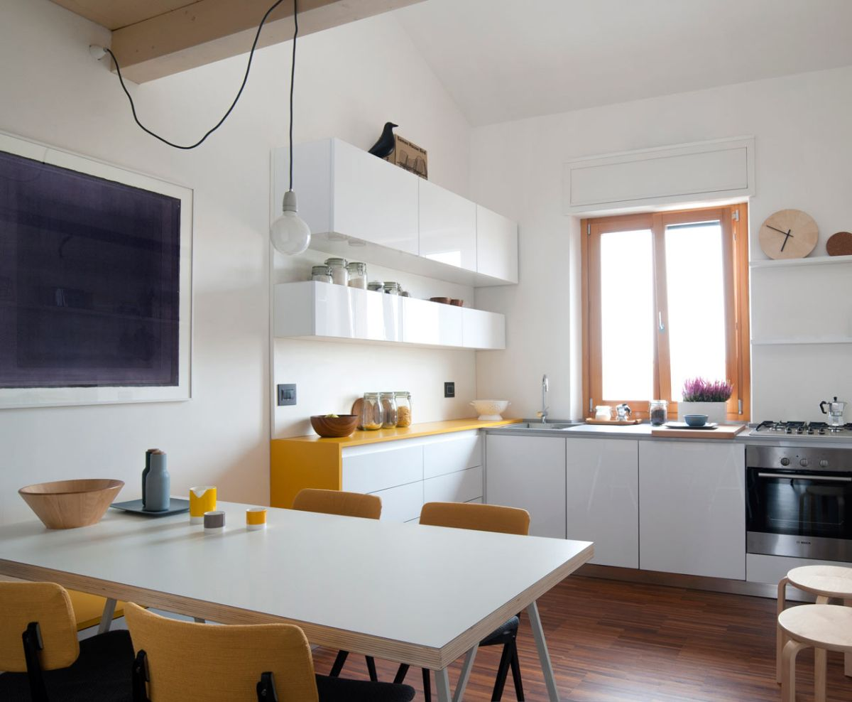 small milan apartment kitchen white cabinets