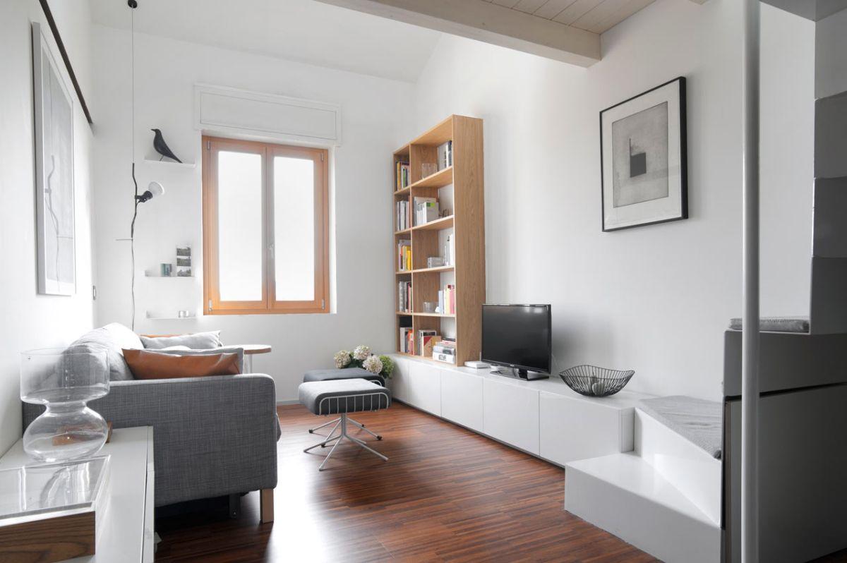 Small Milan Apartment Social Area