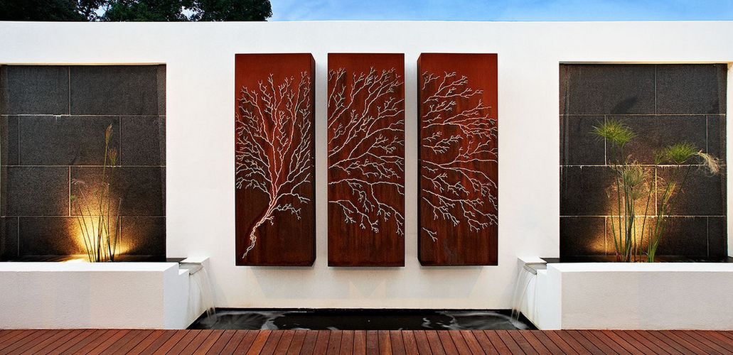 How To Beautify Your House - Outdoor Wall Décor Ideas on Backyard Wall Design id=66414